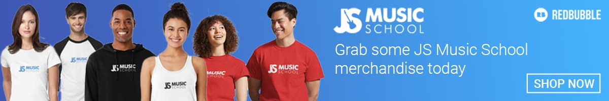 JS Music School Merchandise Banner
