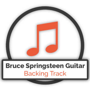 Bruce Springsteen Guitar Backing Track